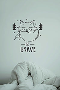 foto Wallstickers Barn BE BRAVE