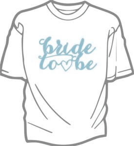 foto T shirt Brollop BRIDE TO BE