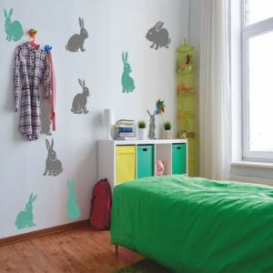 foto Wallstickers Barn BUNNYS SET