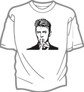 foto T-shirt Vuxen DAVID BOWIE
