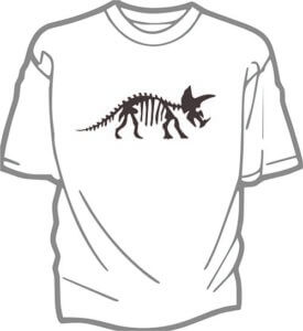 foto T-shirt Barn DINO SKELETT