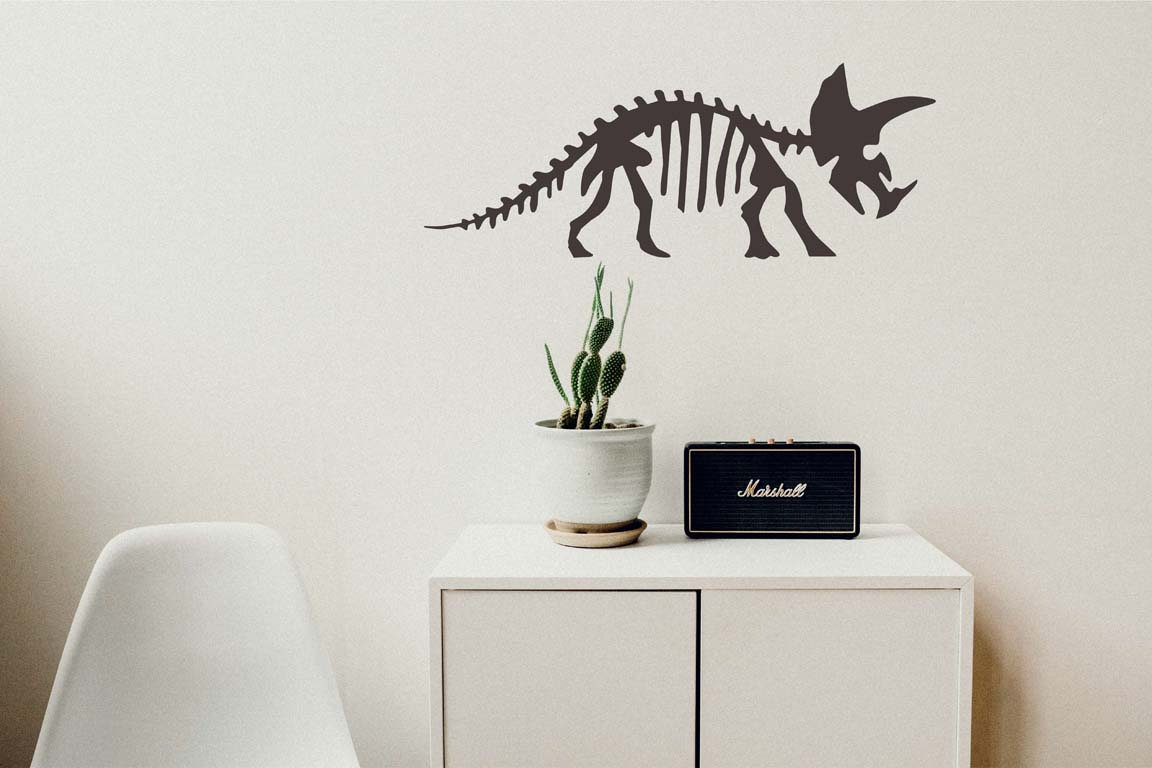 foto Wallstickers Barn DINO SKELLET