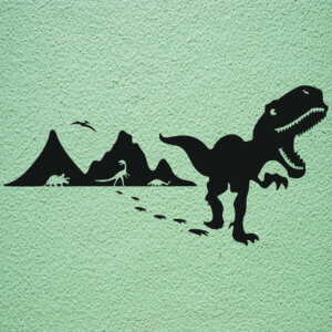 foto Wallstickers Barn DINO T REX SET