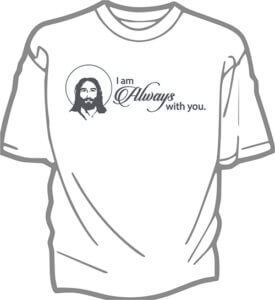 foto T-shirt Vuxen IM ALWAYS WITH YOU JESUS
