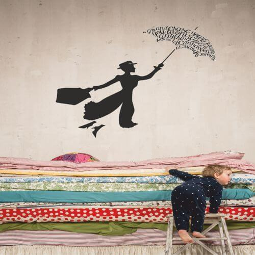 foto Wallstickers Barn MARRY POPPINS