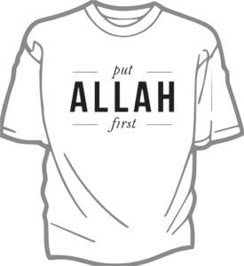 foto T-shirt Vuxen PUT ALLAH FIRST