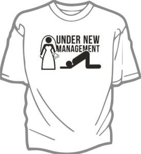 foto T shirt Brollop UNDER NEW MANAGEMENT