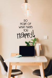 foto Väggtexter Citat Do more what makes you happy