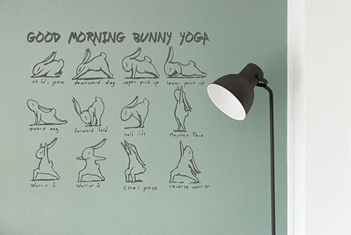GOOD MORNING BUNNY YOGA bg