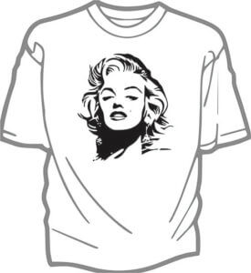 foto T-shirt Barn Marylin Monroe
