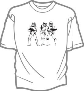 foto T-shirt Vuxen Star Troopers