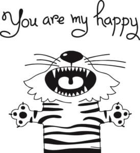 foto Wallstickers Barn YOU ARE MY HAPPY